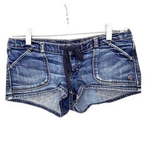Abercrombie & Fitch Low Rise Denim Jeans Shorts